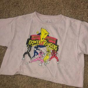power rangers crop shirt